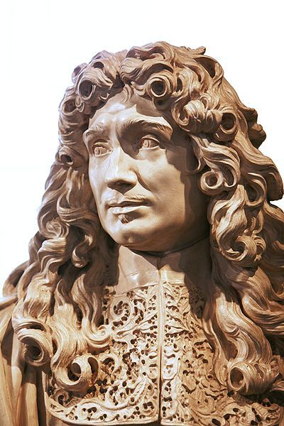 Jean-Baptiste Colbert.Reproduction of a bust made in 1677 by Antoine Coysevox;the reproduction is on display at Toulon naval museum,the original,at the Louvre.