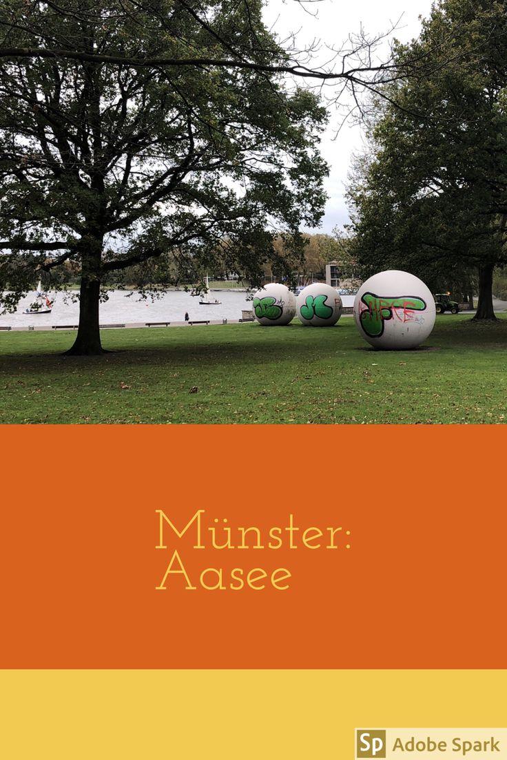 Wer von der Innenstadt in Münster genug gesehen hat, geht zum Aasee. Dort kann man herrlich spazieren gehen.