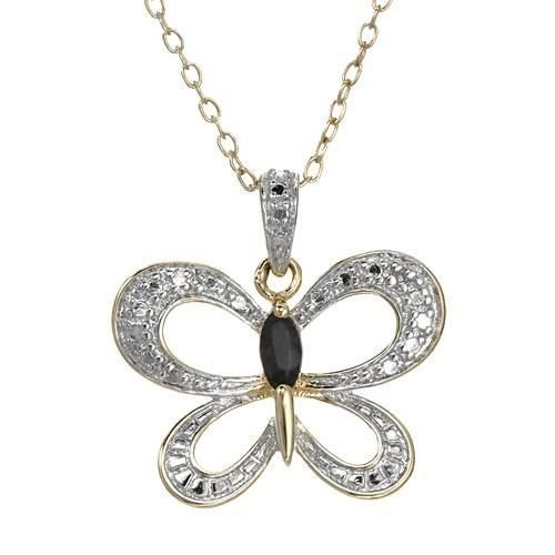 Necklace With Diamond And Sapphire on #iDealSmarter