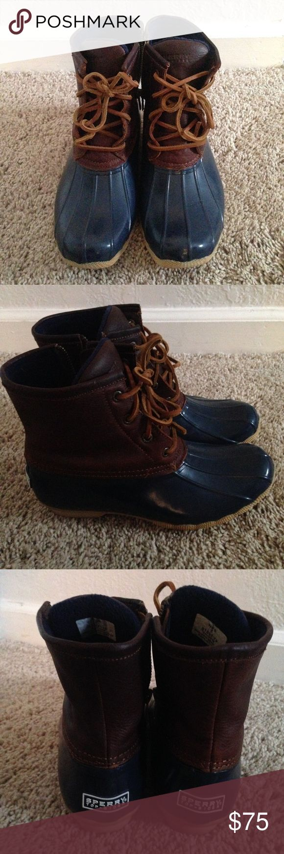 Sperry duck boots 7 Excellent condition. Super comfy and warm. Price firm! Sperry Top-Sider Shoes Winter & Rain Boots