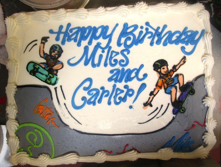 Skateboarding Boys cake #icingonthecakelosgatos