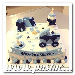 Bebek Doğum Günü Pastaları www.pastacibaci.com