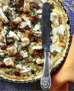 Tærte med græskar og gedeost