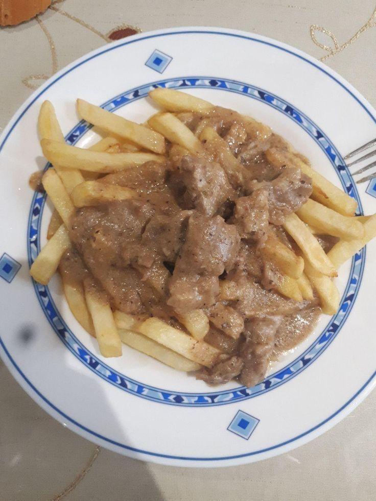 Mi Almuerzo Carne En Salsa Con Papas Fritas Recetas Fáciles Recetas Gratis Recetas Almuerzo Carne Con Fáciles Fritas Gr Food Beef Recetas