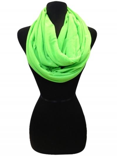 Neon green infinity scarf...I love mine