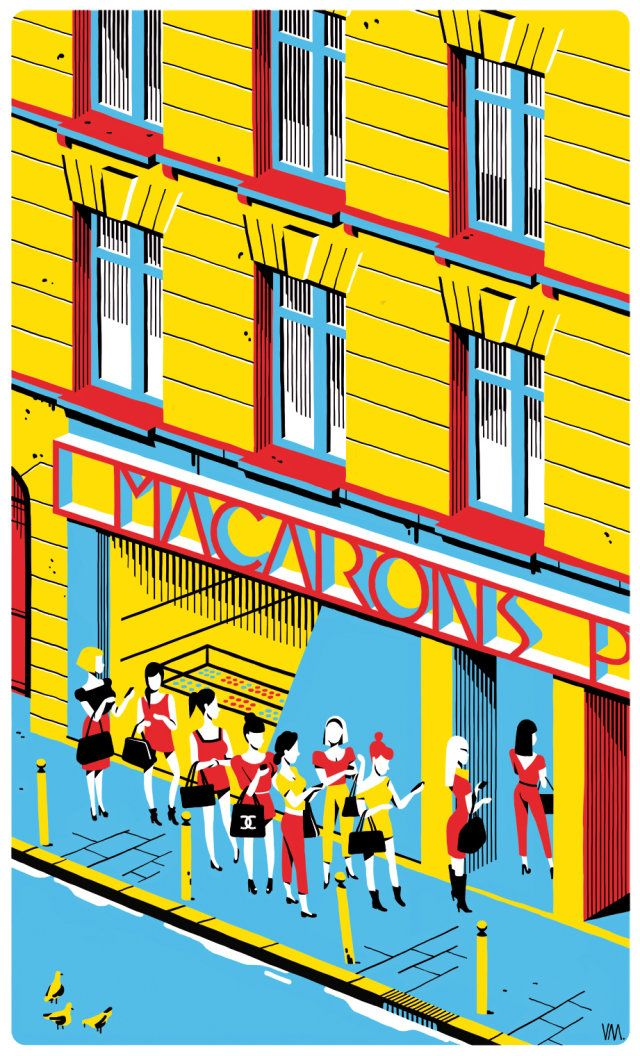 언젠가 잡지에서 본적있는 프랑스 파리 출신의 일러스트레이터 Vincent Mahe.  유럽의 문화와 정서를 소소한 일상들로 표현하고 있다, 또한 색을 파스텔 톤으로 쓰면서 잔잔한 느낌을 준다. 역시 깔끔한 스타일이 좋다
