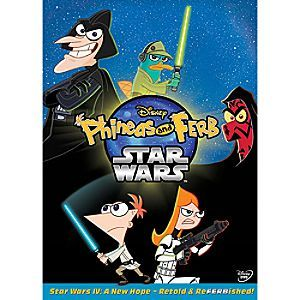 Phineas and Ferb Star Wars DVD | Disney Store A galaxy of <i>Phineas and Ferb</i> stars provide a ''Retold & ReFERBished'' version of <i>Star Wars IV: A New Hope.</i> Featuring five additional episodes of action-packed fun, this intergalactic adventure is a blast for all ages.