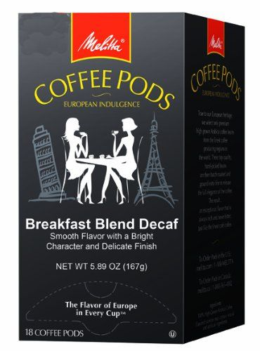 Melitta Coffee Pods, Breakfast Blend Decaf, Light Roast, 18-Count (Pack of 4) - http://thecoffeepod.biz/melitta-coffee-pods-breakfast-blend-decaf-light-roast-18-count-pack-of-4/