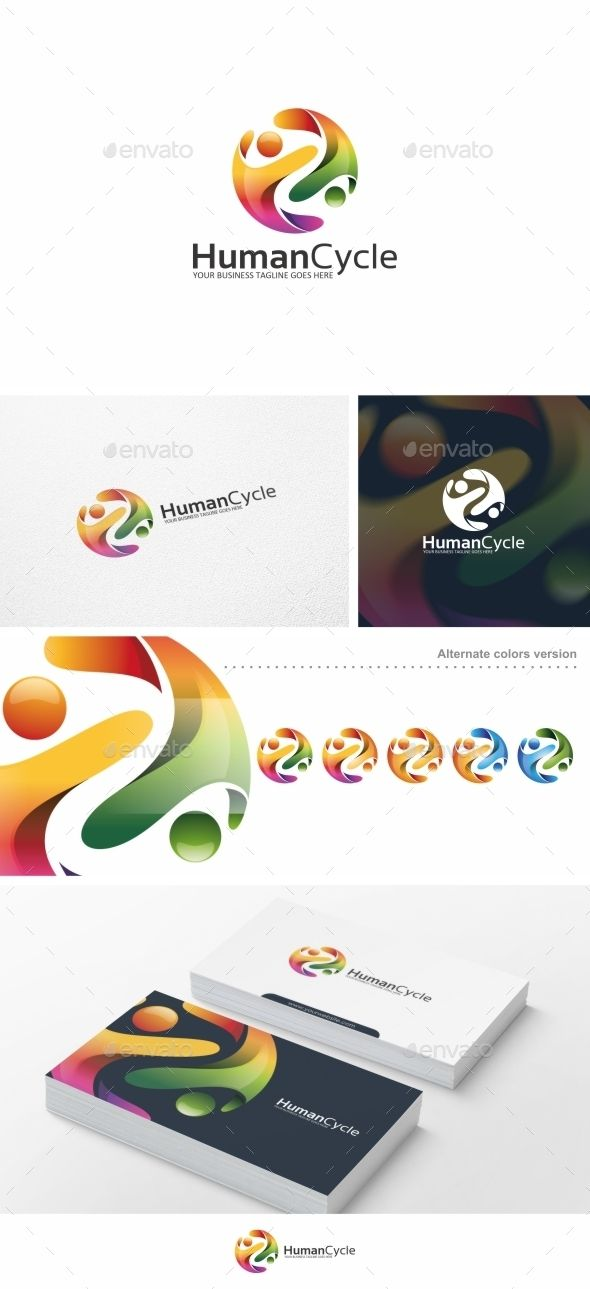 Human Cycle / People - Logo Template Vector EPS, AI #logotype Download here: http://graphicriver.net/item/human-cycle-people-logo-template/10459493?ref=ksioks