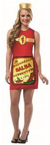 Hot & Spicy Salsa Dress Adult Womens Costume - 321581 | trendyhalloween.com #halloweencostumes #womenscostumes #sexycostumes #salsa #chipsandsalsa #rastaimposta