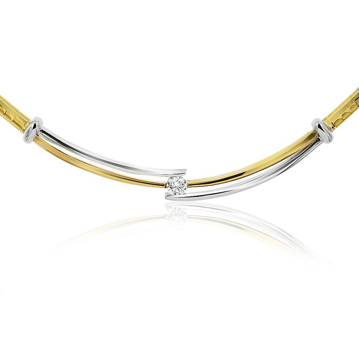 Celebrate life and love with the [ORO]3 Present Moment diamond necklet. Crafted in 18ct white and yellow gold. This necklet is 45cm long and 5.8mm wide at the diamond.