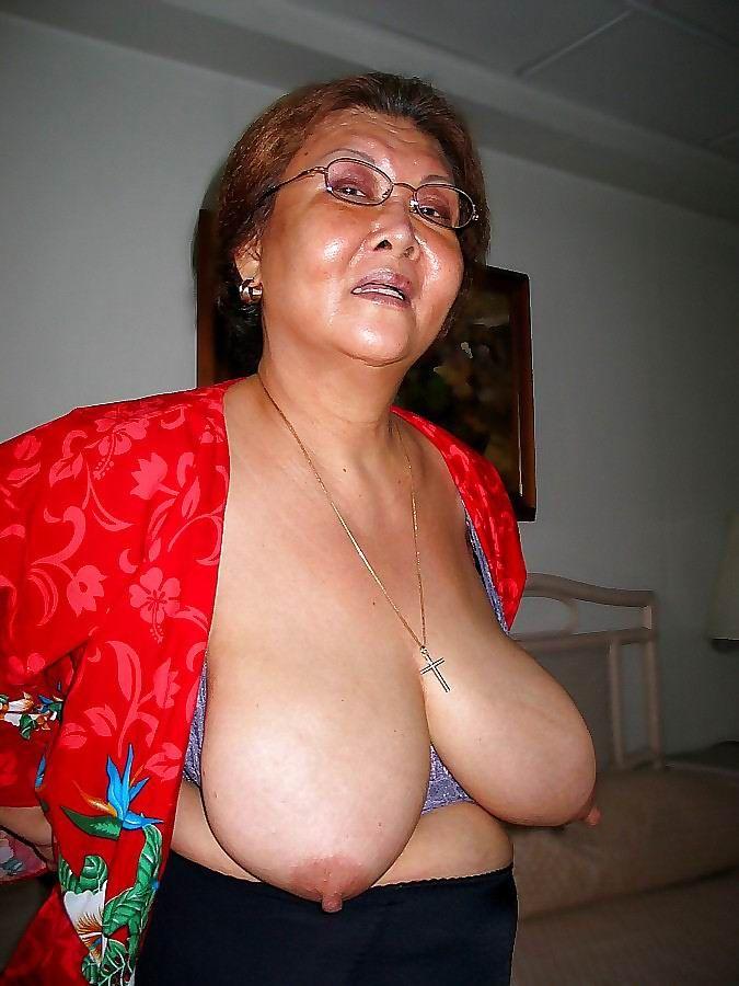 Granny tits big granny, grandma,