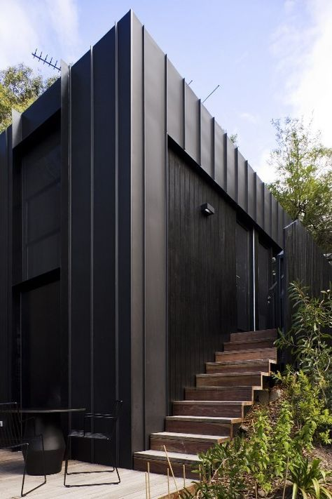 Some nice details... long-run roof cladding extends to wall cladding, subtle gutters.