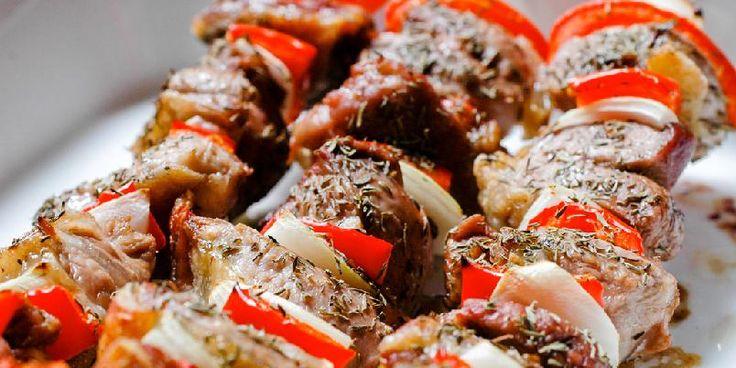 Grillspyd med lam og timian - Her er Clotilde Dusouliers nydelige grillspyd av lam med timian.