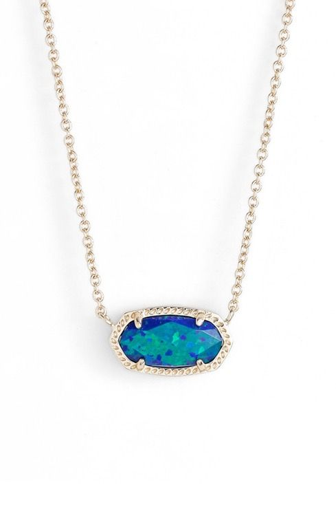 Mesmerize and turn heads with this brilliantly hued pendant necklace