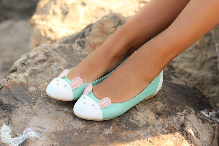 Bunny Feet: Ballet Flat, Bunnyflats, Fashion, Style, Cute Flats, Bunny Flats, Cute Bunny, Bunnies, Bunny Shoes