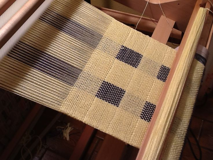 Double weave on a rigid heddle loom