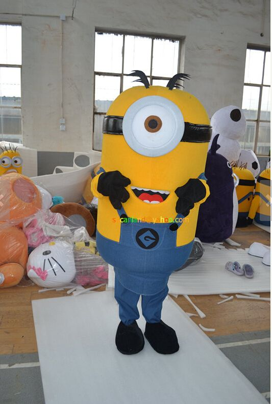 Minions Mascot Costume for Halloween party 2014, 2014 Halloween Party Costumes, Despicable Me Minions. My favorite gesture :)