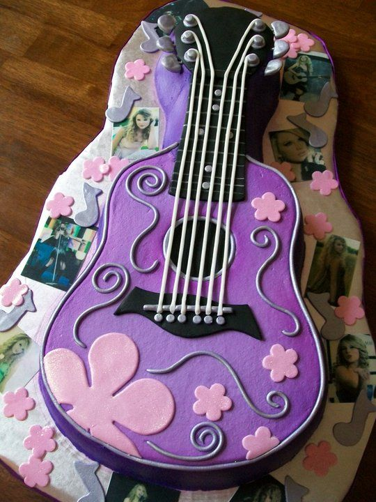 Taylor Swift Inspired Guitar Cake