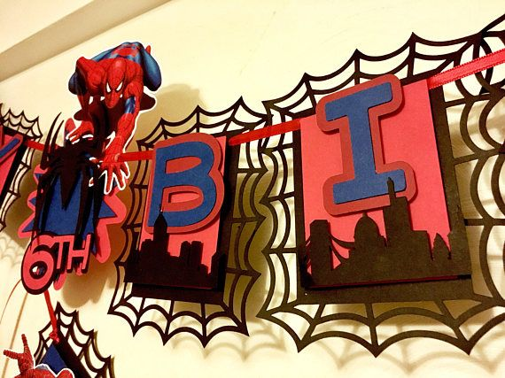 Spiderman Happy Birthday Banner Spiderman Name Banner R Happy