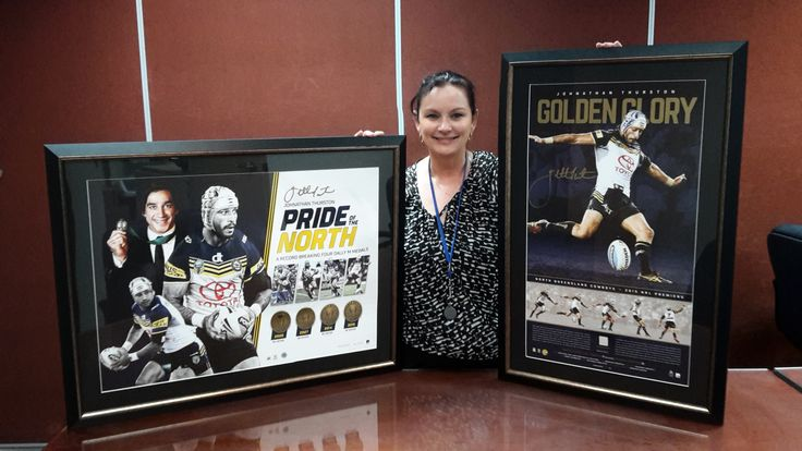 I am one very happy Cowboys fan today. Thank you Johnathan Thurston for making my day. These will go very nicely, not on my office wall, but on my wall at home.