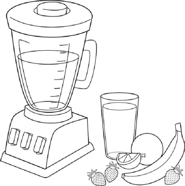 Fruit Smoothie Coloring Pages Blender Fruit Smoothies
