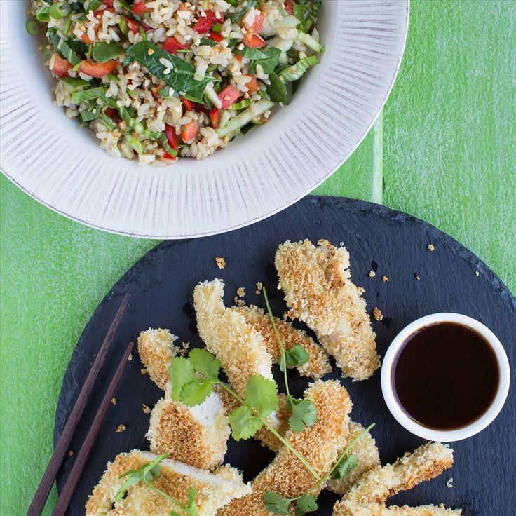 Chicken Katsu with Vegetable Brown Rice