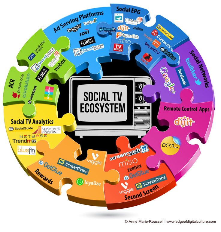 The Social TV Puzzle [INFOGRAPHIC] | Anne-Marie Roussel's take on the current landscape of the Social TV ecosystem