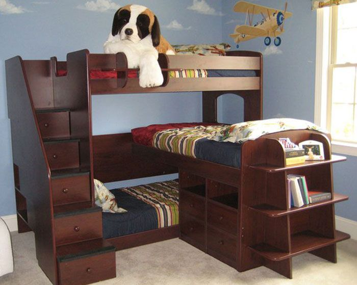 Small Kuds Room Shaped Corner Kid Bunk Bed Modern Small Kids Room Idea Via Gus Toddler