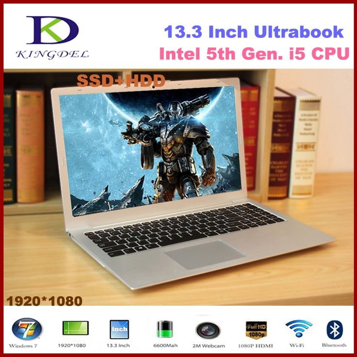"""562.00$  Buy here  - """"13.3"""""""" powerful 5th generation i5 Laptop Notebook computer with 8GB RAM 128GB SSD 1T HDD 1920*1080,Metal Cover,Windows 10"""""""