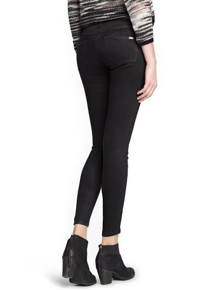 Gecoate zwarte superskinny jeans
