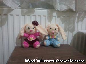 Örgü Tavşancıklar Amigurumi