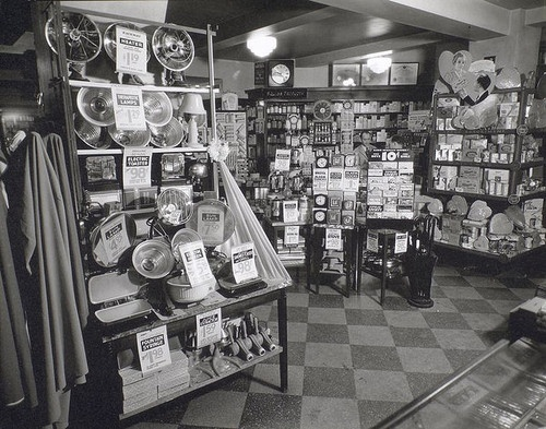 Whelan's Drug Store, 44th Street and Eighth Avenue, Manhattan ca. 1936 (NYPL)