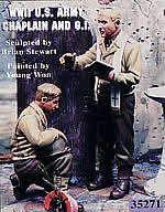 Warriors Scale Models WA35271 WWII U.S. Army Chaplain and G.I.