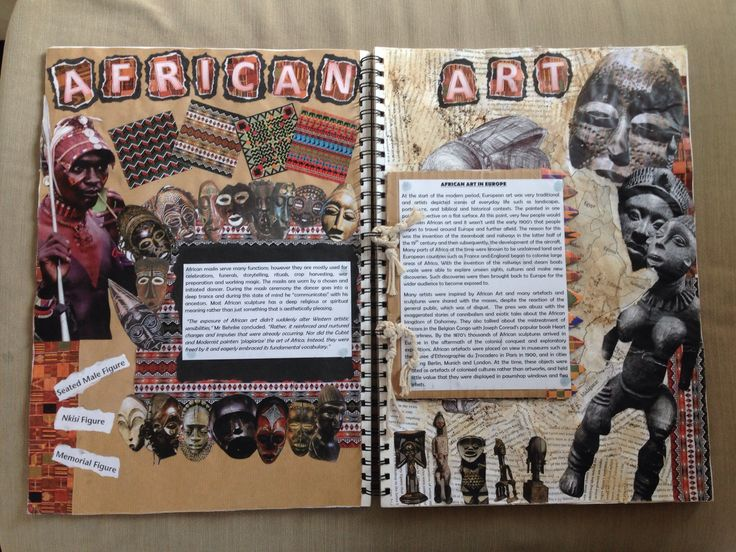 African art history page - how to present cultural or art study pages AO1