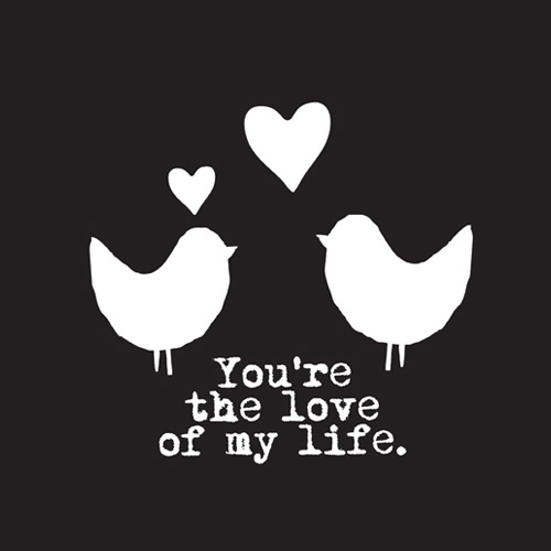 Love Birds | You're the love of my life | via @fonq.nl