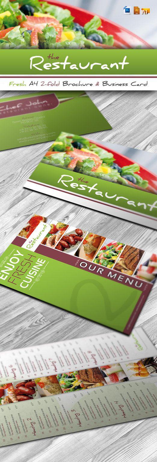 RW Fresh Restaurant Brochure by Reclameworks.deviantart.com on @DeviantArt