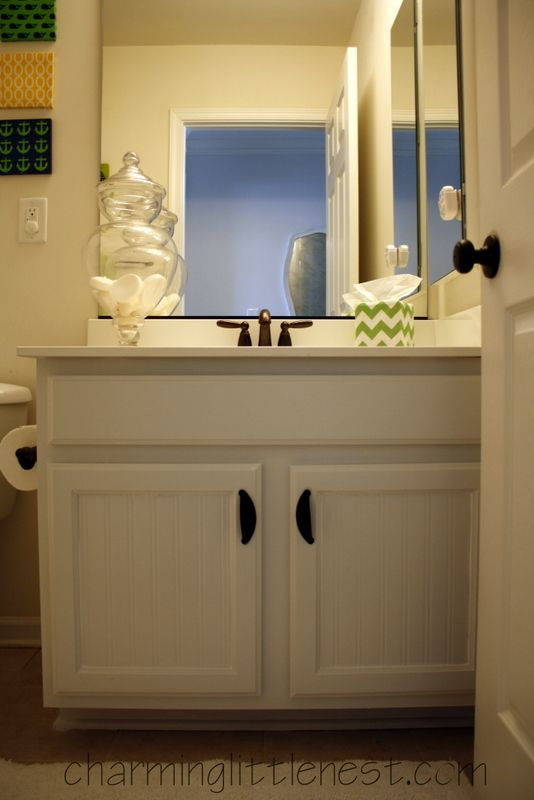 Painted Bathroom Cabinets A Fresh Update With Paint And