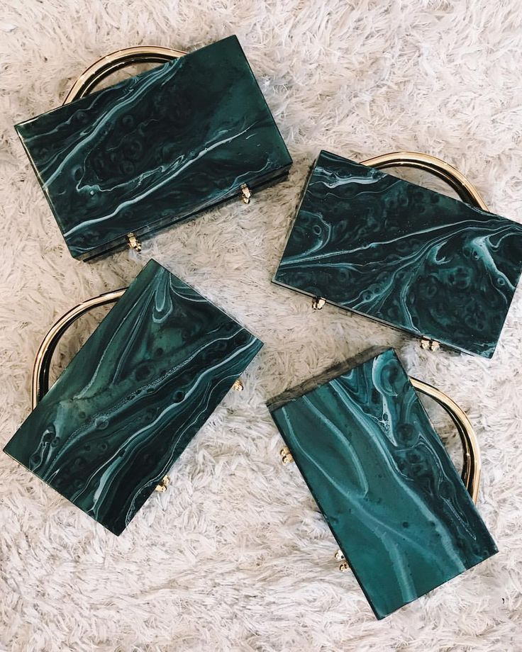 """756 Likes, 16 Comments - L'AFSHAR (@lilianafshar) on Instagram: """"Eugene Emerald marble bags x 4 ☁️ #lafshar"""""""