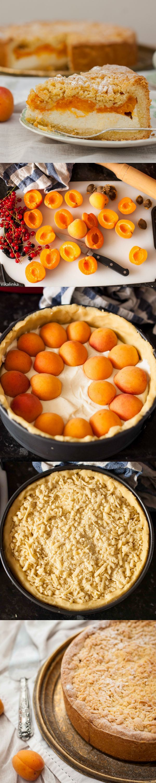 Crumb Apricot Cheesecake b y vikalinka  #Apricot                                            Note BySabrinaRachel : Remplacer cheescake par crème de chocolat blanc ou vanille.