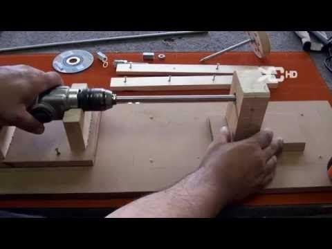 Torno taladro, Para hacer piezas de hasta un metro - YouTube
