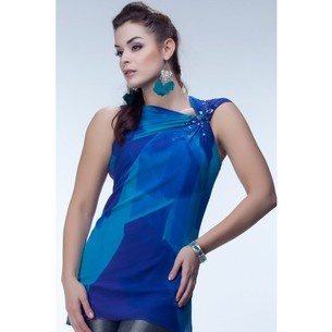 Satya Paul  Cobalt Blue Sleevless Kurti