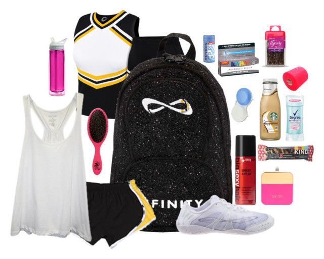 """""""What's in my cheer bag// Camp"""" by lizzielane33 ❤ liked on Polyvore"""