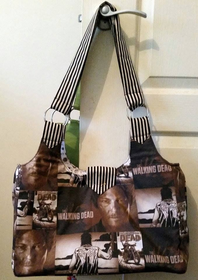 Walking Dead Book bag i made for my daughter for her Uni books!    Email: mbmaccessories1@gmail.com Facebook:https://www.facebook.com/mbmaccessories1