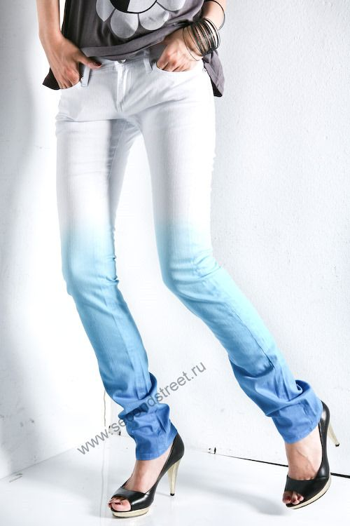 как высветлить обесцветить джинсы