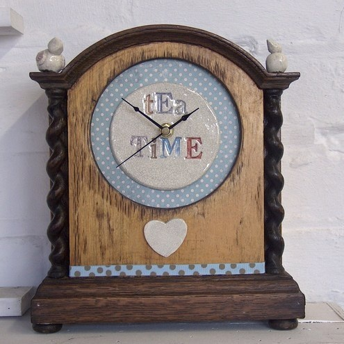 'Tea Time' Vintage Clock No.2 £100.00