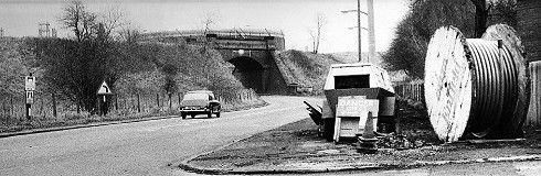 Manchester - Partington Railway bridge 1976