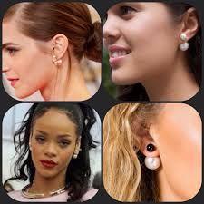 Dubbele oorbellen zijn de nieuwste sieraden trend. U draagt de kleinste bol aan de voorkant van uw oorlel. In diverse uitvoeringen en kleuren bij ons verkrijgbaar, o.a. parel met glitter. De dubbele oorbellen zijn ook gespot bij Rihanna en Emma Watson, de dubbele oorbellen zijn helemaal hip en de trend van nu