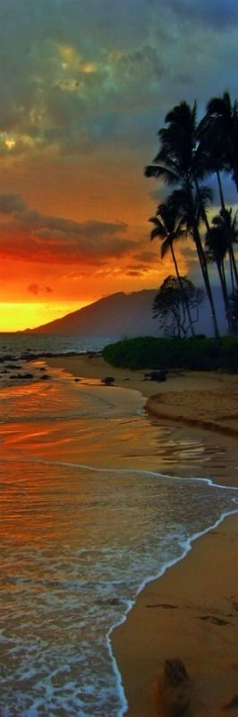 Maui, Hawaii - Sunrise. I just love the layered look of this photo. a wonderful composition.