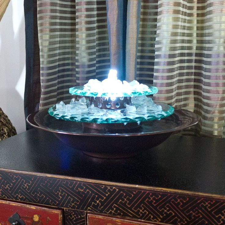 Moonlight Glass Tabletop Fountain